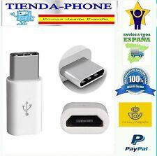 Adaptador Micro USB a USB-C Tipo C TIPO-C 3.1 Type C Data Cargador Cable Blanco