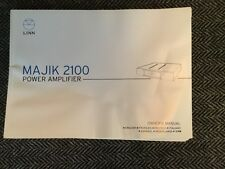 LINN MAJIK 2100 Power Amplifier Owners Manual