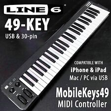 LINE 6 Mobile 49-Key Portable USB MIDI MUSIC KEYBOARD for the iPhone/iPad Mac/PC