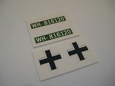 Dinky 617  GERMAN VW KDF  Sticker Decals -Military Vehicles,