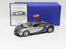 1:18 AutoArt Bugatti EB 16.4 Veyron plata/ gris con box de PREMIUM-MODELCARS