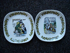 Lord Nelson Pottery Advertising Plates Van Houtens Cocoa & Pears Soap Plate