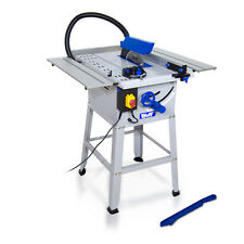 """Wolf 10"""" 250mm Bench Table Saw 1500W 240v Leg Stand & Steel Table Extensions"""