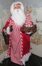 Byers Choice Caroler Candy Cane Santa with Candy Cane Tree 2016 *
