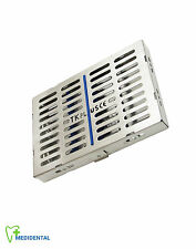 Sterilization Stainless Cassette Tray Rack of 10 Dental/Surgical Instruments New
