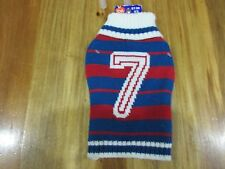 NEW PET CENTRAL RUGBY STYLE SWEATER SIZE XS