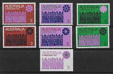 AUSTRALIA SG498/504 1971 CHRISTMAS SET MNH