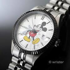 Invicta Disney Mickey Mouse Black Stainless Steel New Limited Edition Mens Watch