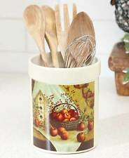Red Apple Orchard Kitchen Utensil Holder Apple Berries Country Apple Decor