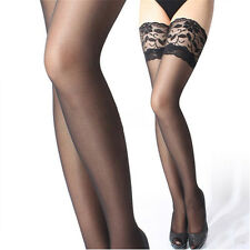 Fashion Women's Sexy Lace Top Stay Up Thigh High Stockings Tights Pantyhose Hot