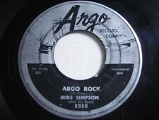Mike Simpson Argo Rock / Cuban Twilight 1956 45rpm