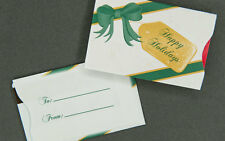 Holiday Gift Card Sleeves - Happy Holidays - 100 count