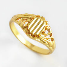Vintage Jewelry 18K Yellow Gold Filled Womens Engagement Elegant Ring Size 6
