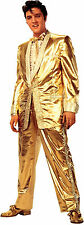ELVIS PRESLEY-GOLD LAME SUIT LIFE SIZE STAND UP FIGURE ICONIC MUSIC ARTIST CELEB