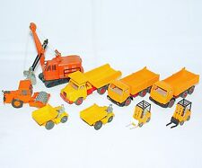 9x Wiking HO 1:87 SHOVEL + DIGGER + MB TRACTOR LORRY + MAN TRUCK + FORKLIFT Lot