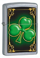 ACCENDINO ZIPPO CLOVER AND GOLD Chiusura Lampo Lighter Regali Fiamma 024 13C020