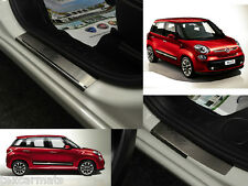 Stainless Steel Protectores Stainless Steel Door Sill Guards fit Fiat 500L 2013-