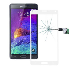 Samsung Galaxy Note 4 Full Glass Screen Protector Hard Tempered to Edge White