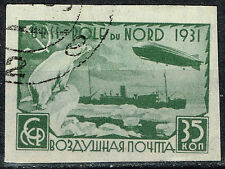 Russia Soviet Aviation Zeppelin over Polar Bear stamp 1931 imperforated