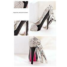 Cristal Porte-Clés Anneau chaussure à talons hauts Pendentif Sac Main Décor