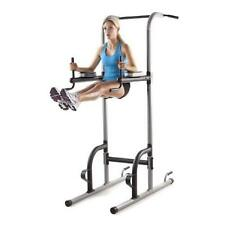 Exercise Tower Weider Power Tower Home Gym Equipment Strength STATION Gray