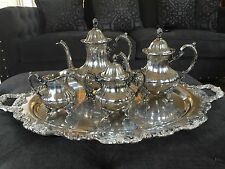 Vintage Towle Rococo Georgian 5pc Silver plate Coffee Tea Set