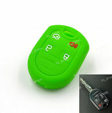 Green Silicone Holder Remote Key Case Cover For Ford Edge Focus Escape Explorer