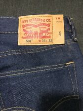 levis 501 Shrink To Fit Worn Few Times Never Washed 35x32