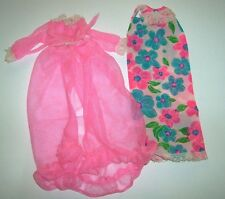 #1212 Night Blooms Francie mod doll clothes 1960s robe nightgown Vintage Barbie