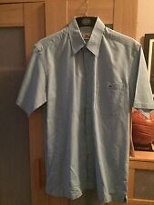 Men's Lacoste Shirt Short Sleeve Light Blue Size 39