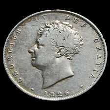 1826 George IV Milled Silver Half Crown