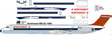 Northwest Mc Donnell Douglas MD-82 airliner decals for Minicraft 1/144 kits