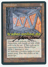 Mana Crypt artist signed Magic english Promo Book Card original black bordered