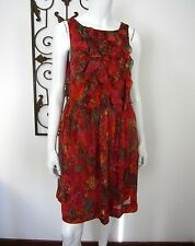 Maggy London Sleeveless 100% Silk Dress Size 8, Multicolored