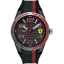 BRAND NEW Scuderia Ferrari Men's Rev T Quartz Silicone Mens Watch Black 0830336