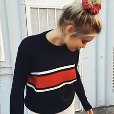 Brandy Melville Navy oversized red/white/blue striped pull over Jayden sweater