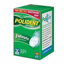 Polident 3 Minute, Antibacterial Denture Cleanser 120 ea (Pack of 3)