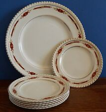 Vintage Johnson Bros Old English Tea set serving plate with 6 tea plates