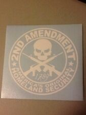 second amendment Vinyl Die Cut Decal,window,ipad,laptop,car,funny,truck,pro gun