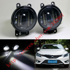 High Power 15W CREE LED Projector Fog Lamps w/ DRL Lights For Toyota Lexus Scion