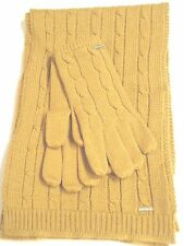 Nine West Colorado Scarf & Glove Set,Gold