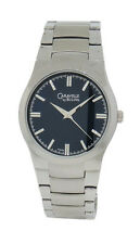 Caravelle by Bulova 43A106 Men's Round Analog Midnight Blue Silver Tone Watch
