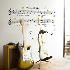 Modern Style Removable Black Music Note Wall Sticker Delicate Home Decor 2016
