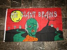 3x5 Halloween Zombie Me Want Brains Flag 3'x5' Brass Grommets