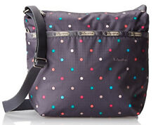 Free shipping NWT LeSportsac Small Cleo Crossbody bag Gray Chromatic Dot MSRP$58