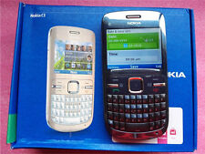 Nokia C3-00  2MP Camera Blue Grey Wifi Qwerty Keypad Mobile Phone