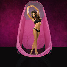 High Quality Pop-Up Tanning Tent Booth - Pink with Carrier