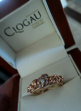 Clogau Welsh 18ct Yellow & Rose Gold Tree Of Life 3 x Diamond Ring - size  M