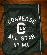 Converse All Star Chuck Taylor Gym Black Drawstring Backpack Bag New