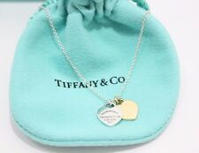 Tiffany & Co. Silver & 18K Yellow Gold Return to MINI HEARTS  Pendant Necklace